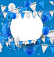 background with flags and balloons vector image vector image