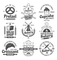 Bakery Black White Emblems vector image