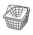 basket icon doodle hand drawn or outline icon vector image