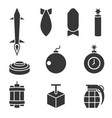 Bomber and dynamite icons set vector image