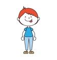 boy cartoon happy isolated design vector image vector image