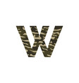 camouflage logo letter w vector image vector image
