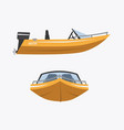 Cartoon speed boat