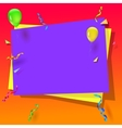 Celebration background with balloons vector image