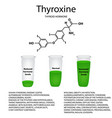 chemical molecular formula the hormone thyroxine vector image vector image
