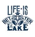 crayfish t-shirt print fishing sport club vector image vector image