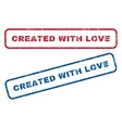 Created With Love Rubber Stamps vector image vector image