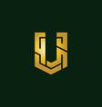 creative initial letter u logo design inspiration vector image