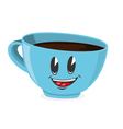 Cute cup of coffee vector image