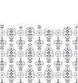 damask pattern with torn paper vector image vector image