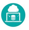 data center storage two tone button icon image vector image vector image