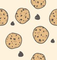 doodle cookies seamless pattern vector image vector image