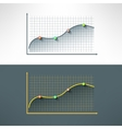 economic finance graphics chart made in vector image vector image