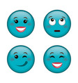 Emoticons faces characters icons