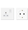 European and uk socket vector image vector image