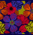 exotic floral pattern in bright colours vector image vector image