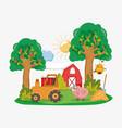 farm cute cartoons vector image