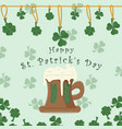 festive background cover for st patricks day vector image