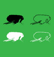 flea icon black and white color set vector image