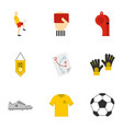 football icons set flat style vector image