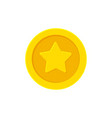 golden coin with a star vector image vector image