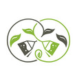 green and black tea sign vector image vector image