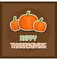 Happy Thanksgiving Day background design with vector image vector image