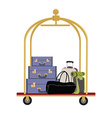 Hotel luggage cart vector image vector image