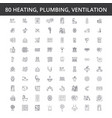 hvac heating air conditioning ventilation vector image