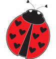 lady bug vector image vector image
