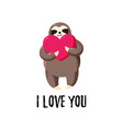 lovely cartoon sloth with a vector image vector image