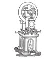 minting cutting machine for coins vintage vector image vector image