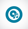 music icon bold blue circle border vector image vector image