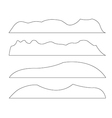 paths mountains set on white background vector image vector image