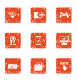 physical law icons set grunge style vector image vector image