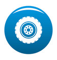 repairing tire icon blue vector image vector image