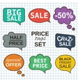 Sale promotion speech bubbles collection set with