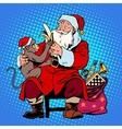 santa claus monkey symbol new year 2016 vector image