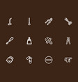 set of 12 editable instrument outline icons vector image vector image