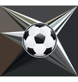 Soccer Ball on Rays Background vector image vector image