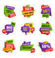 special offer tags discount ads banners best vector image vector image
