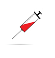 syringe and needle vector image