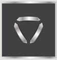 three arrows logo abstract triangle vector image