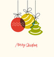 three xmas bolls vector image