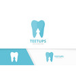 tooth and arrow up logo combination dental vector image vector image