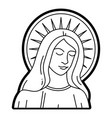 virgin mary statue catholic vector image