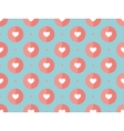 Seamless pattern of hearts on a turquoise vector image