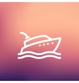 Yacht thin line icon vector image