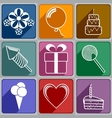 Icons to Birthday vector image