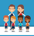 teacher school with children avatar character vector image